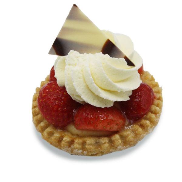 Afbeelding van Aardbeienschelp met slagroom