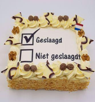 Afbeeldingen van Geslaagd # niet geslaagdt # taart