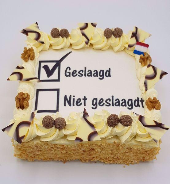 Afbeelding van Geslaagd # niet geslaagdt # taart