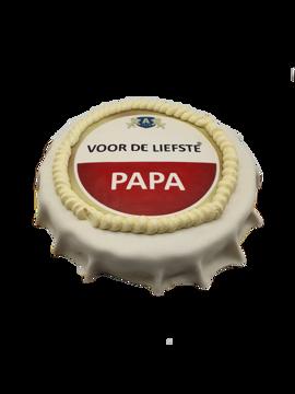 Afbeeldingen van Vaderdag bierdop taart amstelstyle