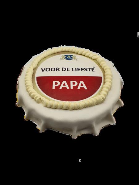 Afbeelding van Vaderdag bierdop taart amstelstyle