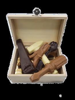 Afbeelding van Kistje gevuld met chocolade gereedschap