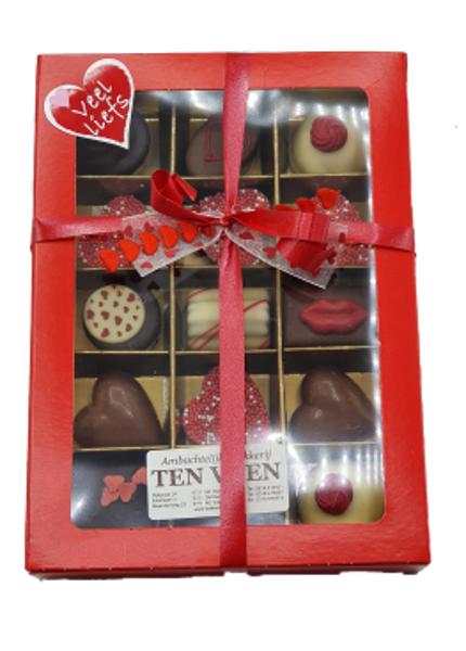 Afbeelding van Luxe chocolade doos 15 stuks