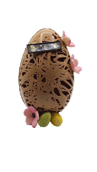 Afbeelding van Luxe paasei melk met bloemen