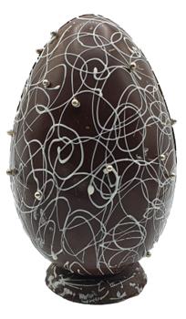 Afbeelding van Luxe paasei puur met parels